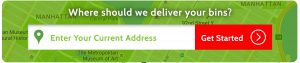 Where should we deliver your moving bins?