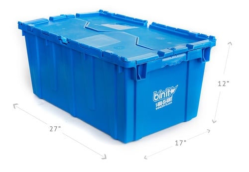 Bin It Plastic Moving Bins