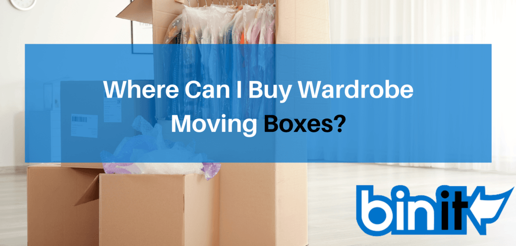 Where Can I Buy Wardrobe Moving Boxes